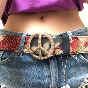 Lucky Brand Accessories - LUCKEY BRAND ☮️ Peace Belt Asian Fish Lotus